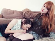 T-mistress dominates her sissy