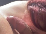 cute trans gives bi males first time bj POV